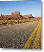 Route 128 Near Castle Valley Metal Print by Adam Romanowicz