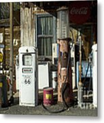 Route 66 Pumps Metal Print by Bob Christopher