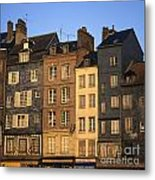 Row Of Houses. Honfleur Harbour. Calvados. Normandy. France. Europe Metal Print by Bernard Jaubert