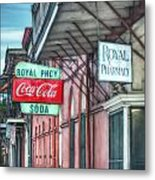 Royal Pharmacy Metal Print by Brenda Bryant