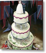 Royal Wedding 2011 Cake Metal Print by Martin Davey