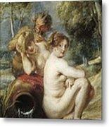 Rubens, Peter Paul 1577-1640. Nymphs Metal Print by Everett