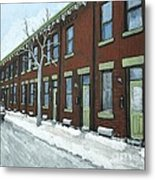 Rue Grand Trunk Pointe St. Charles Metal Print by Reb Frost