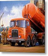 Rugby Cement Thornycroft. Metal Print by Mike  Jeffries