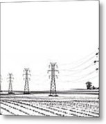 Rural Power Metal Print by Steve Gadomski