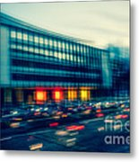 Rush Hour - Vintage Metal Print by Hannes Cmarits