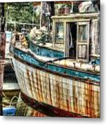 Rusted Wood Metal Print by Michael Thomas