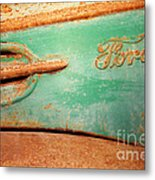Rusting Ford Metal Print by James Brunker