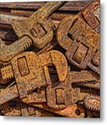 Rusting Wrenches Metal Print by Robert Jensen