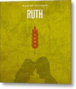 Ruth Books Of The Bible Series Old Testament Minimal Poster Art Number 8 Metal Print by Design Turnpike