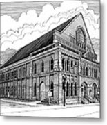 Ryman Auditorium In Nashville Tn Metal Print by Janet King