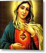 Sacred Heart Metal Print by Unknown
