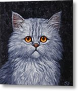 Sad Kitty Metal Print by Crista Forest