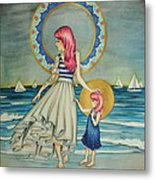 Sail Away Metal Print by Lucy Stephens