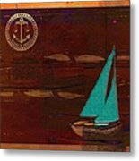 Sail Sail Sail Away - J173131140v3c4b Metal Print by Variance Collections