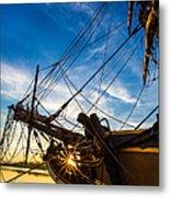 Sailboat Sunrise Metal Print by Robert Bynum