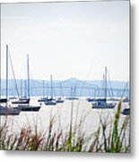 Sailboats At Rest Metal Print by Bill Cannon