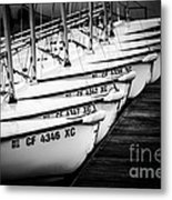 Sailboats In Newport Beach California Picture Metal Print by Paul Velgos