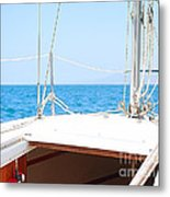 Sailing On A Fine Sunny Day Metal Print by Artist and Photographer Laura Wrede