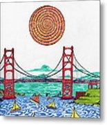 Sailing On San Francisco Bay Metal Print by Michael Friend