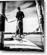 Sailing On The Nile Metal Print by Erik Brede