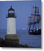 Sailing Out For The Red Moon Metal Print by Jeff Folger