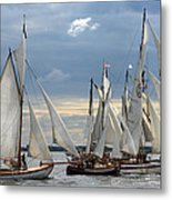 Sailing The Limfjord Metal Print by Robert Lacy