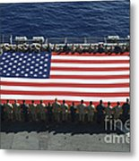 Sailors And Marines Display Metal Print by Stocktrek Images