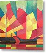 Sails And Ocean Skies Metal Print by Tracey Harrington-Simpson