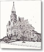Saint Bridget Church Metal Print by Michelle Welles