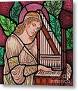 Saint Cecilia Metal Print by Gilroy Stained Glass