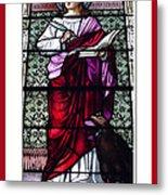 Saint John The Evangelist Stained Glass Window Metal Print by Rose Santuci-Sofranko