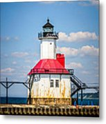 Saint Joseph Lighthouse Picture Metal Print by Paul Velgos