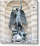 Saint Michael The Archangel In Paris Metal Print by Carol Groenen
