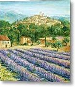 Saint Paul De Vence And Lavender Metal Print by Marilyn Dunlap
