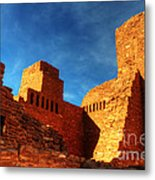 Salinas Pueblo Abo Mission Golden Light Metal Print by Bob Christopher