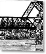 Salmon Bay Bridge Metal Print by Benjamin Yeager