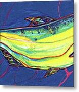 Salmon Of Knowledge Metal Print by Derrick Higgins