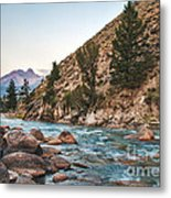 Salmon River In The Twilight Metal Print by Robert Bales