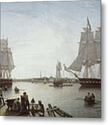 Salmon, Robert 1775-1845. Boston Metal Print by Everett