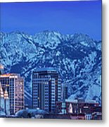 Salt Lake City Skyline Metal Print by Brian Jannsen