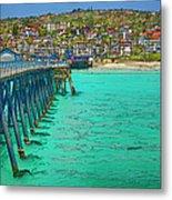 San Clemente Pier Metal Print by Joan Carroll