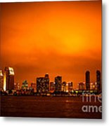 San Diego Cityscape At Night Metal Print by Paul Velgos