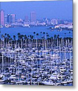 San Diego Twilight Metal Print by Sandra Bronstein