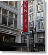 San Francisco Barneys Department Store - 5d20544 Metal Print by Wingsdomain Art and Photography