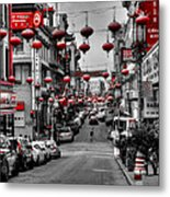 San Francisco - Chinatown 014 Metal Print by Lance Vaughn