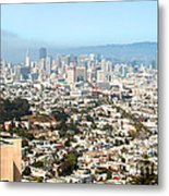San Francisco City Vista Metal Print by Artist and Photographer Laura Wrede