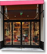 San Francisco Gumps Store Doors - 5d20588 Metal Print by Wingsdomain Art and Photography