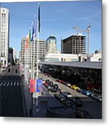 San Francisco Moscone Center And Skyline - 5d20511 Metal Print by Wingsdomain Art and Photography