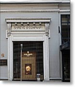 San Francisco Shreve Storefront - 5d20583 Metal Print by Wingsdomain Art and Photography